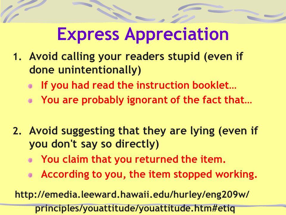 Express Appreciation 1.