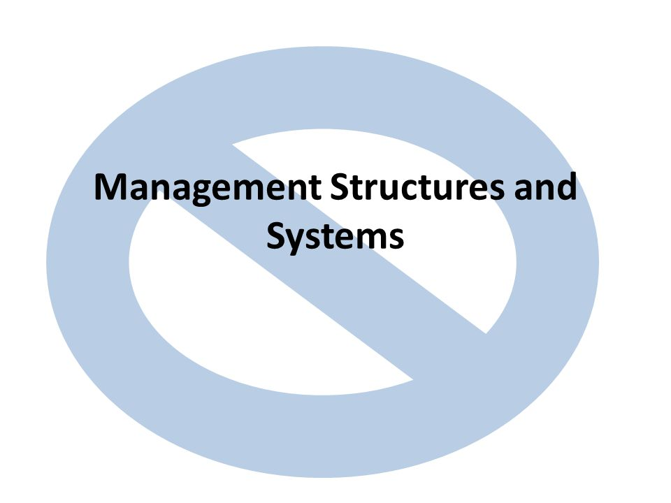 Management Structures and Systems