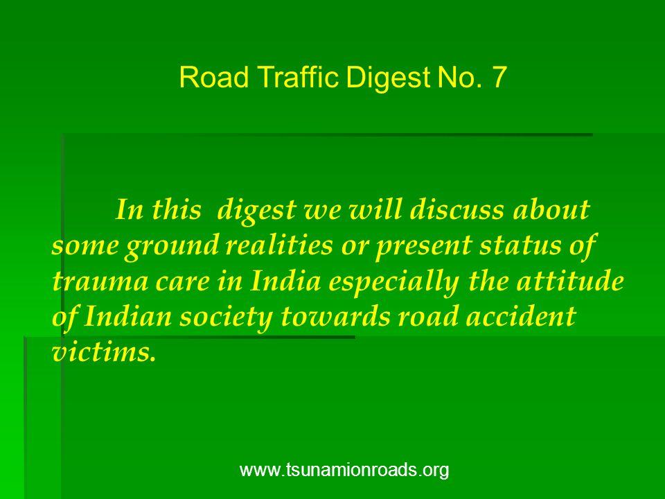 Road Traffic Digest No.
