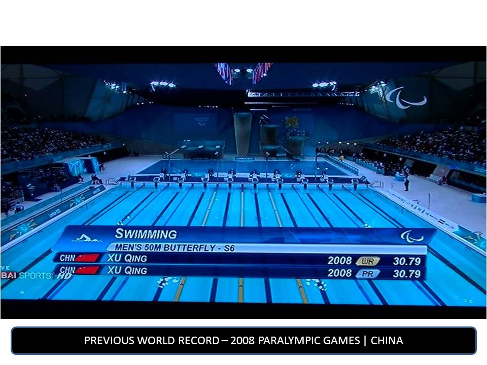 PREVIOUS WORLD RECORD – 2008 PARALYMPIC GAMES | CHINA