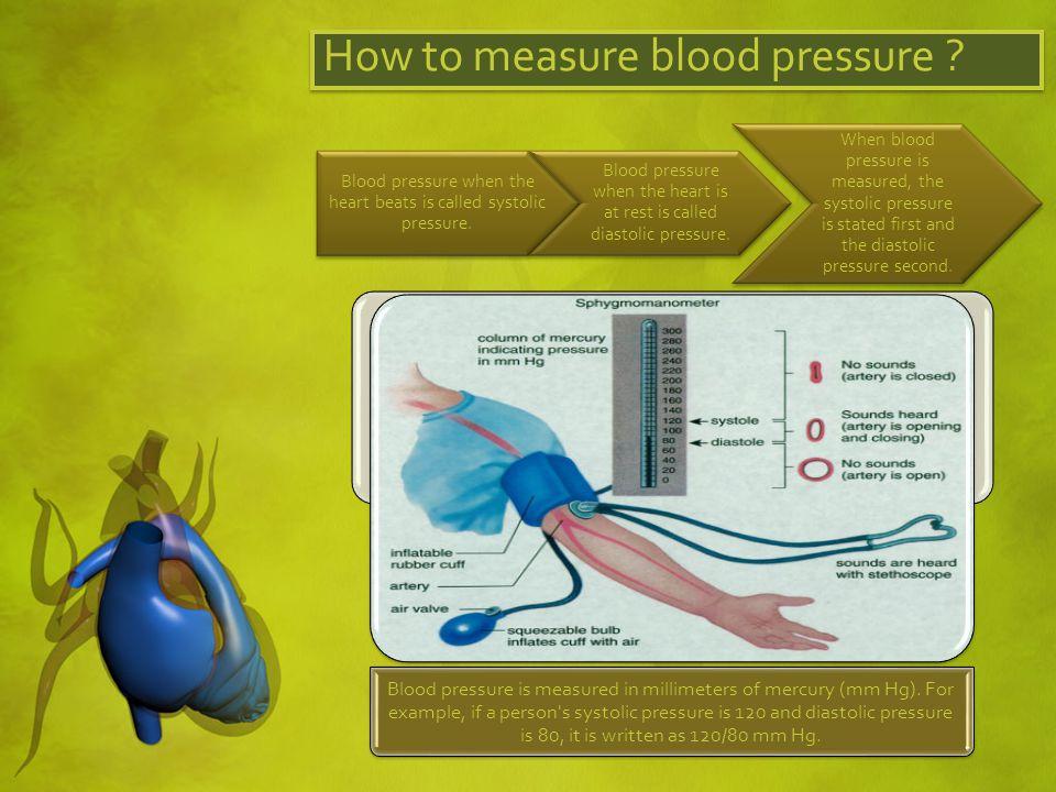 Categories of Blood Pressure Normal Blood Pressure Your blood pressure is normal if it s below 120/80 mm Hg.