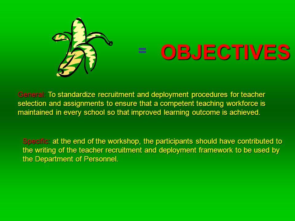 Basic Education Sector Development Project June 3-5, 2009 Workshop on the Development of Teacher Recruitment and Deployment Framework