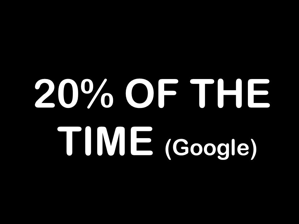 20% OF THE TIME (Google)