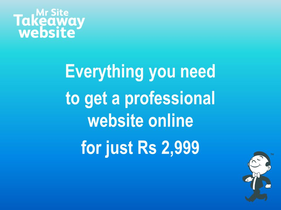 Everything you need to get a professional website online for just Rs 2,999