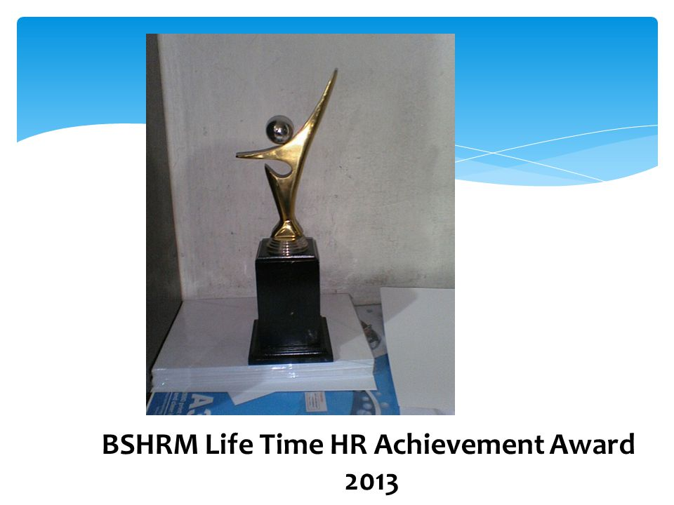 BSHRM Life Time HR Achievement Award 2013
