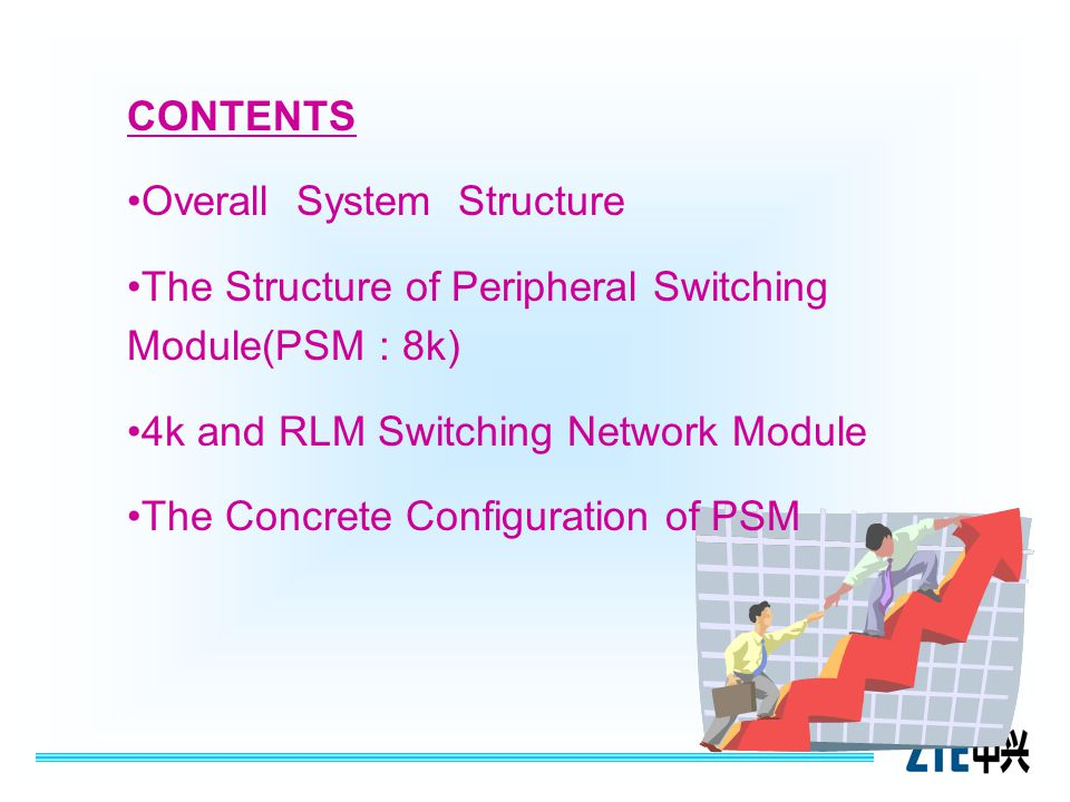 CONTENTS Overall System Structure The Structure of Peripheral Switching Module(PSM : 8k)The Structure of Peripheral Switching Module(PSM : 8k) 4k and