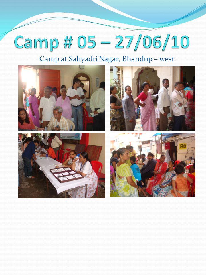 Camp at Sahyadri Nagar, Bhandup – west