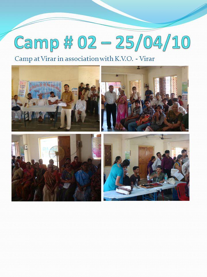 Camp at Virar in association with K.V.O. - Virar