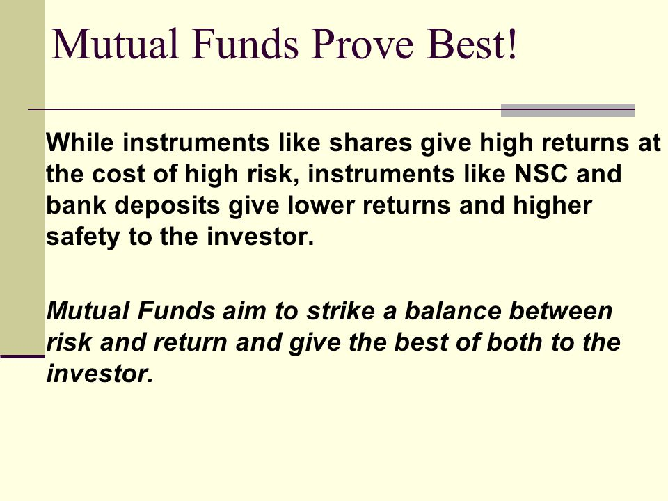Broad Types of Mutual Funds