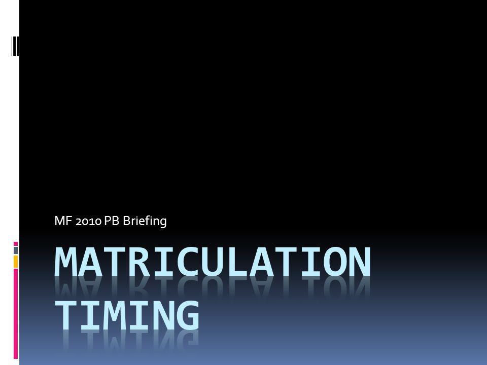 MF 2010 PB Briefing