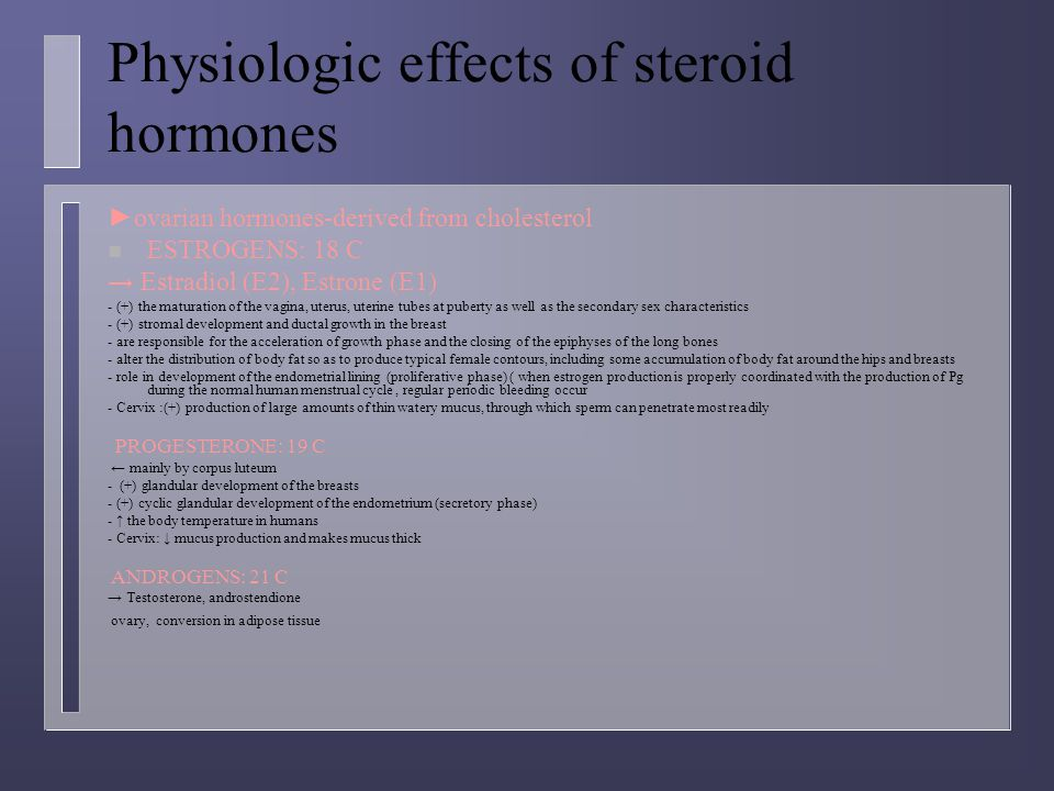 Laboratory findings in secondary amenorrhea (+ normal secondary sex characteristics)- ovarian failure with postpuberal onset n Test negative = failure to induce menstrual bleeding by exogenous progestin indcates: A)  Insufficient estrogen production secondary to –hypothalamic-pituitary dysfunction - ovarian dysfunction 4.