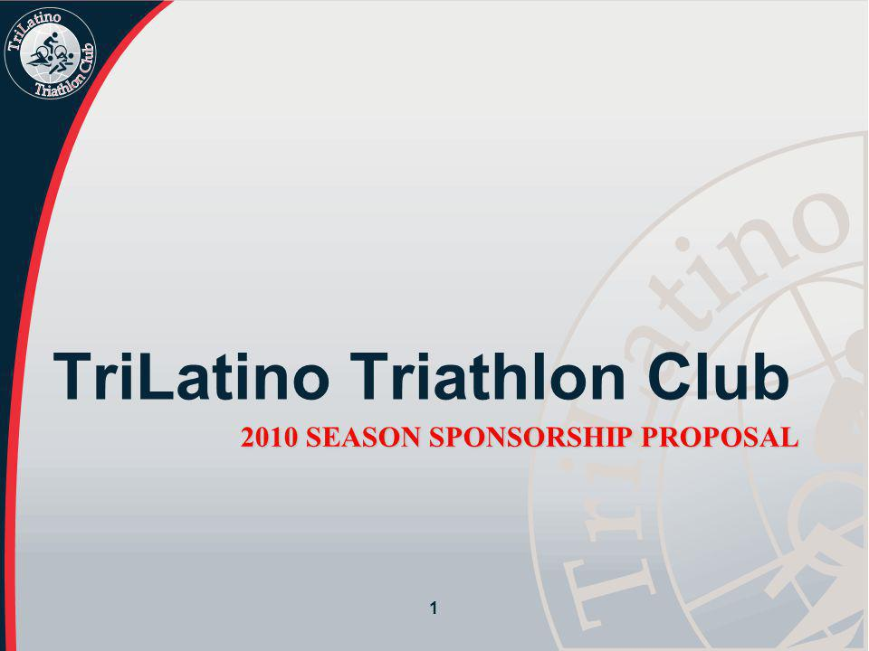 2 TriLatino's Commitment TriLatino's Mission To increase the participation of Latinos in triathlon and endurance sports by encouraging healthy lifestyles, while engaging in altruistic activities in our communities.