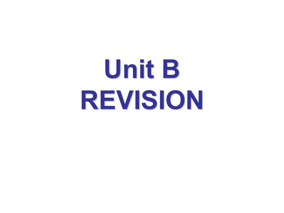 Unit B REVISION