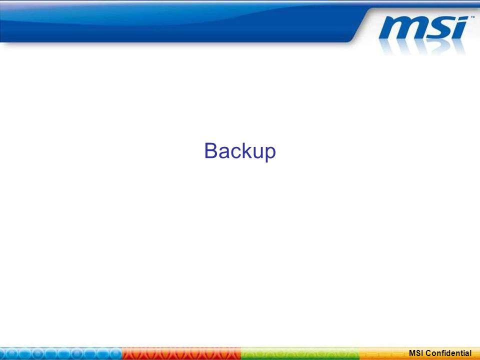 ConfidentialPage 29 MSI Confidential Backup