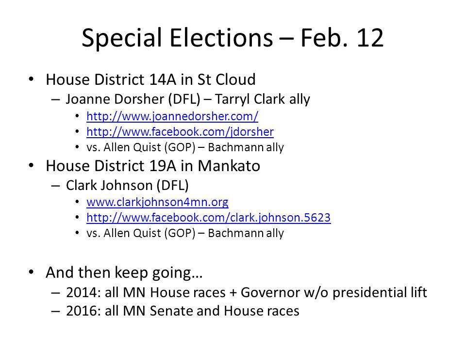 Special Elections – Feb.