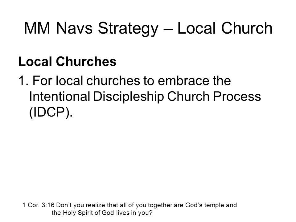 MM Navs Strategy – Local Church Local Churches 1.