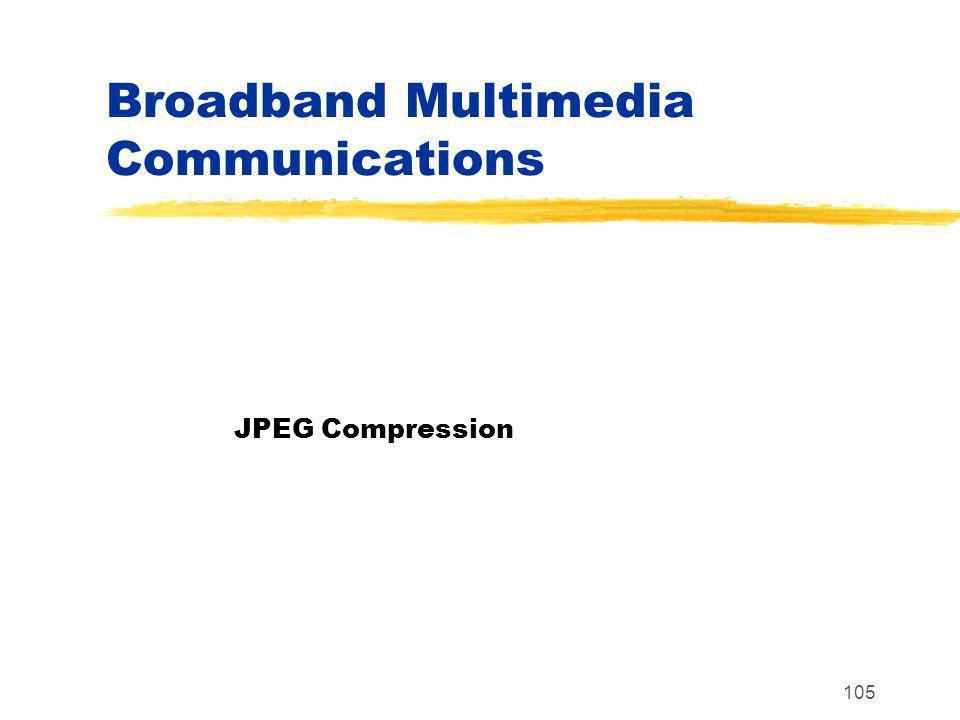 105 Broadband Multimedia Communications JPEG Compression