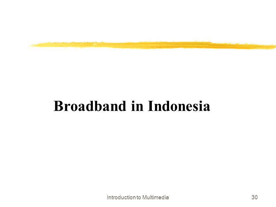 Introduction to Multimedia30 Broadband in Indonesia