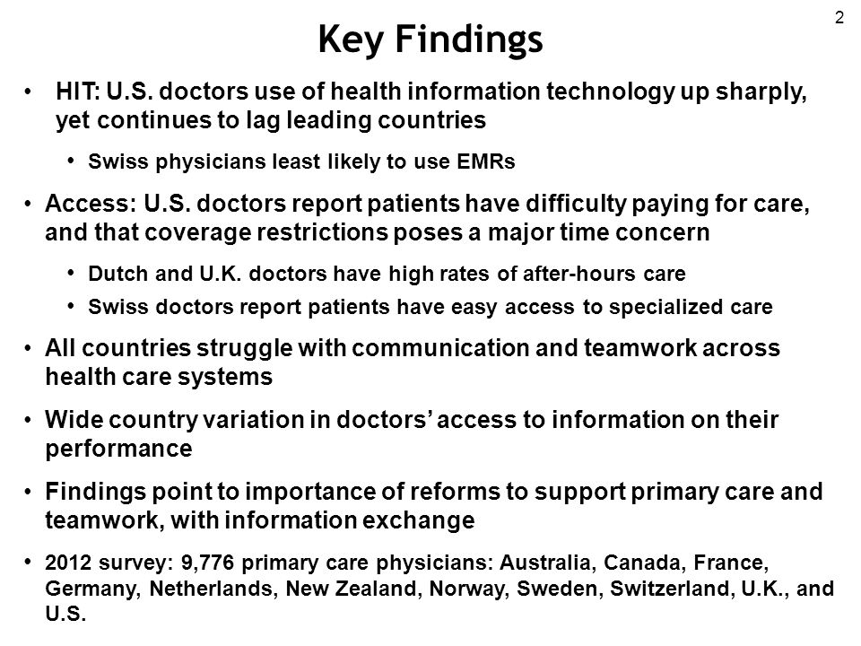 Key Findings 2 HIT: U.S.