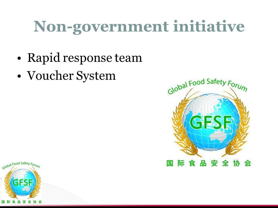 Non-government initiative Rapid response team Voucher System