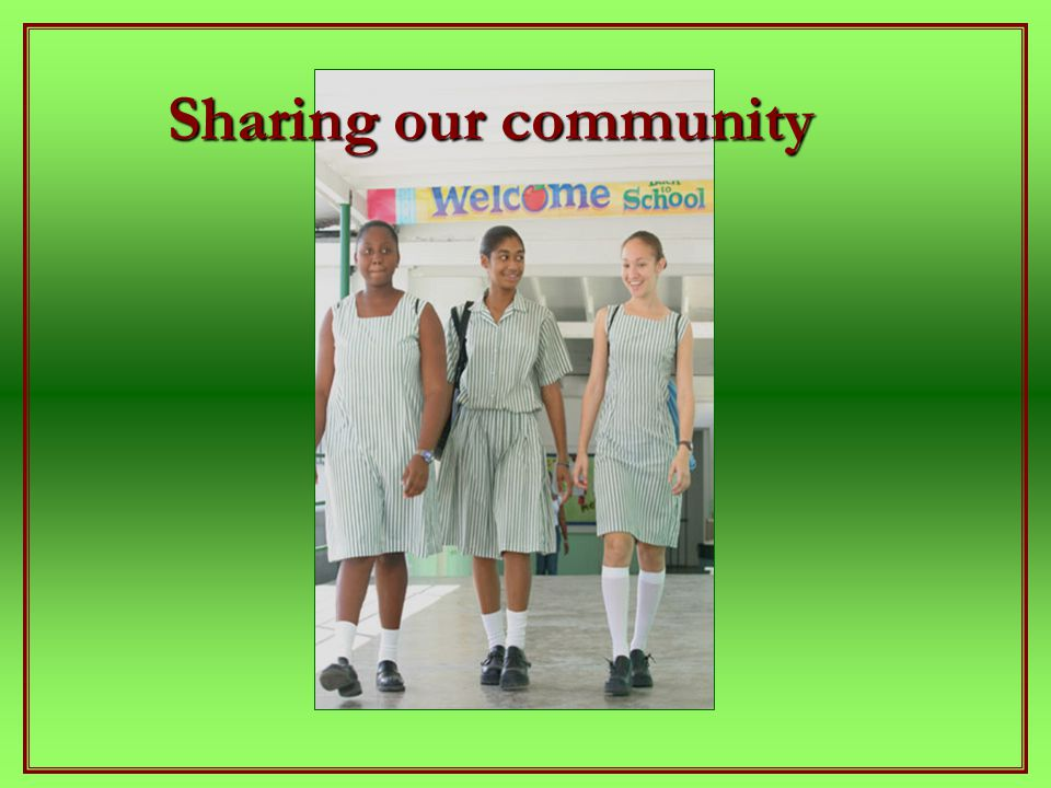 Sharing our community