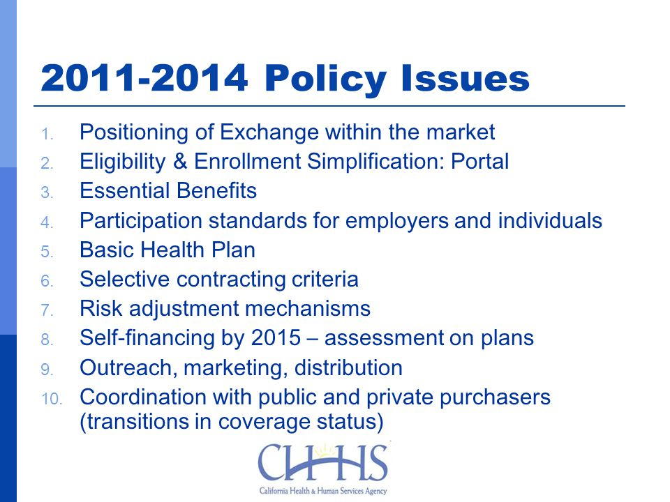 2011-2014 Policy Issues 1. Positioning of Exchange within the market 2.