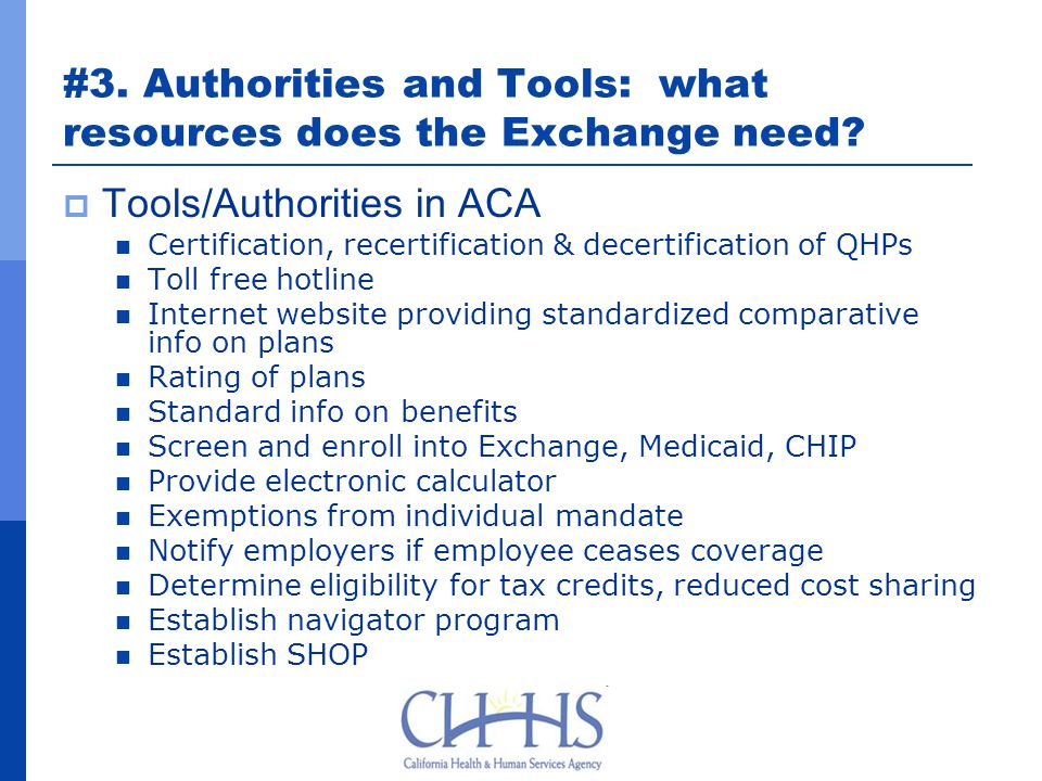 #3. Authorities and Tools: what resources does the Exchange need.