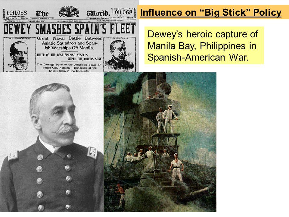 Dewey's heroic capture of Manila Bay, Philippines in Spanish-American War.