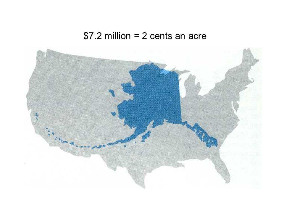 $7.2 million = 2 cents an acre