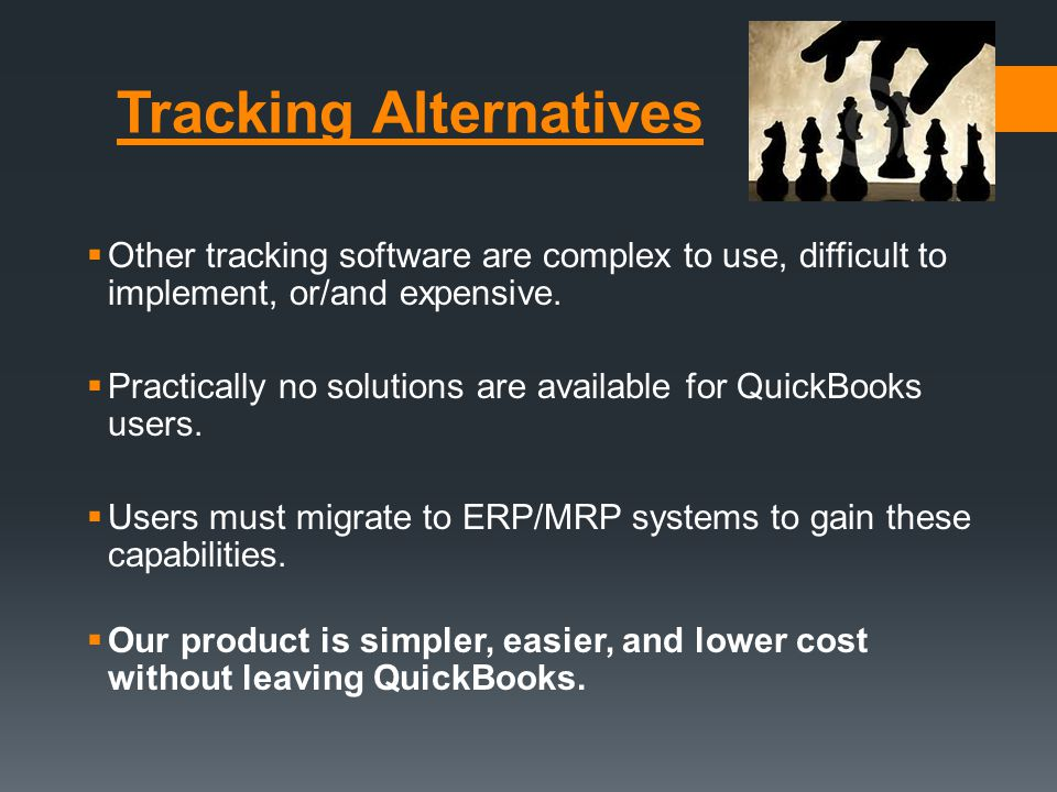 Tracking Alternatives  Other tracking software are complex to use, difficult to implement, or/and expensive.