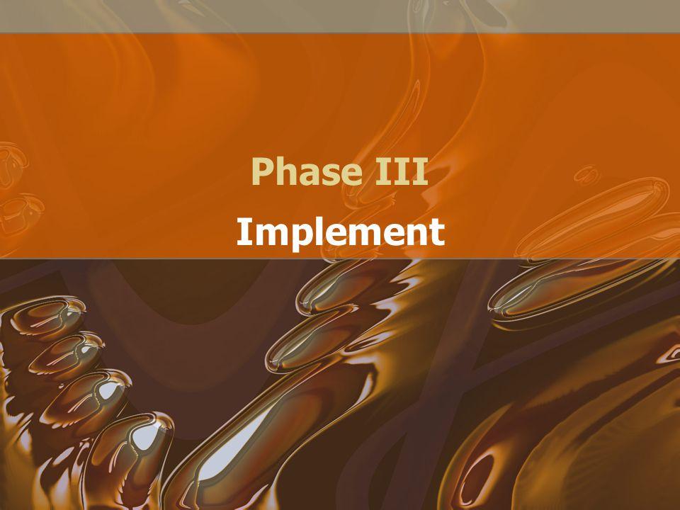 Phase III Implement