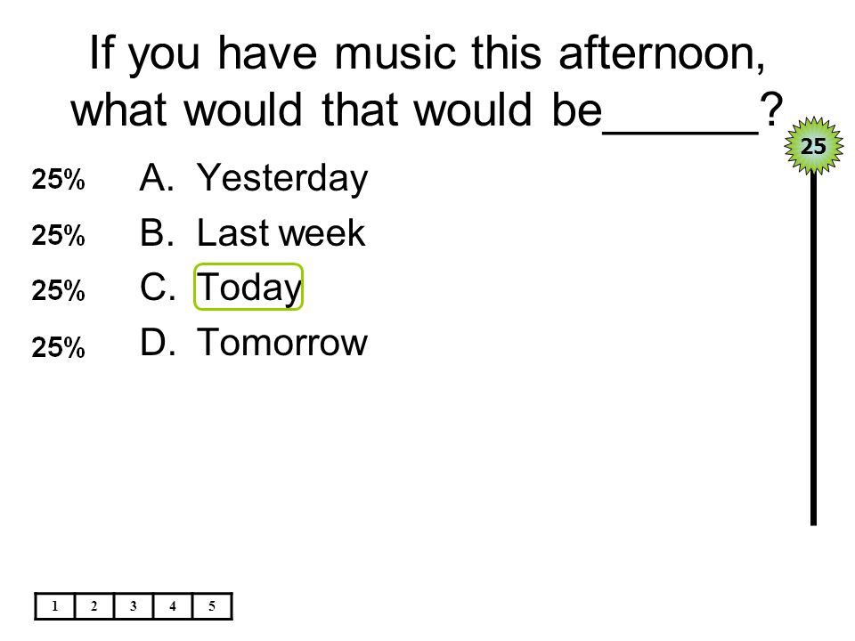 If you have music this afternoon, what would that would be______.
