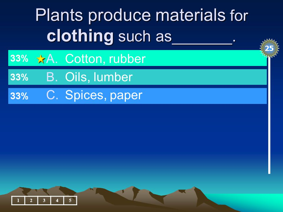 Plants produce materials to help us in school, what are they.