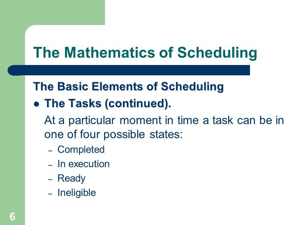 47 The Mathematics of Scheduling Critical-Path Algorithm Step 3 (Create schedule).