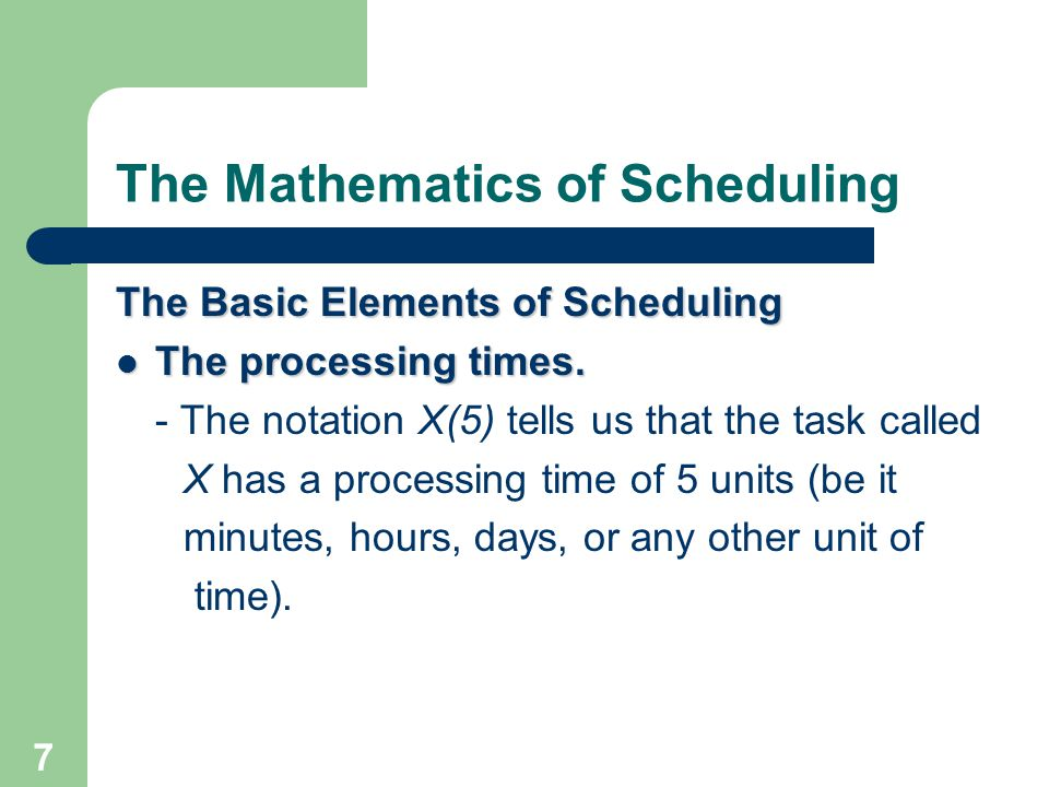 28 The Mathematics of Scheduling Additional Terminology Indegree and Outdegree.
