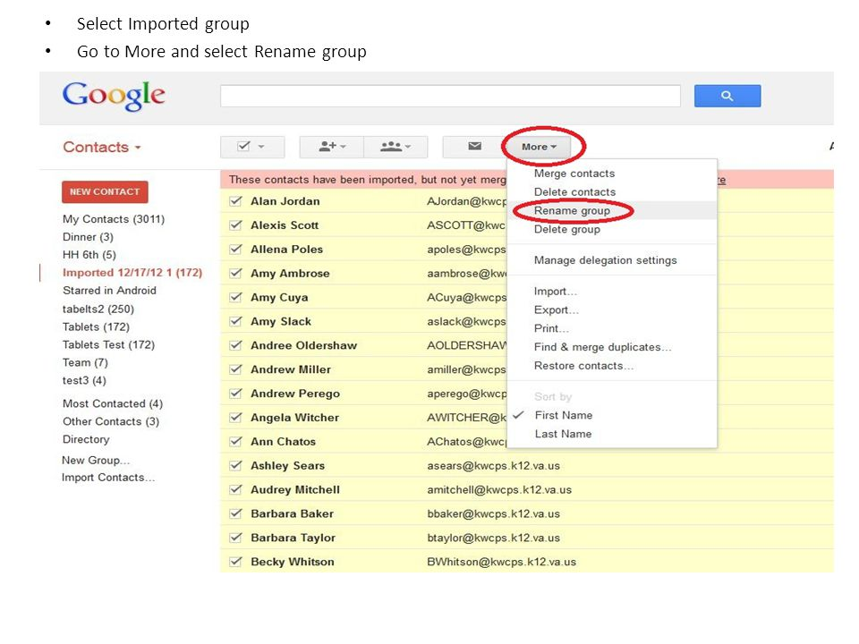 Name group Click OK You are now done with that group/book. Repeat as necessary!