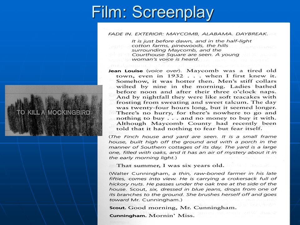 Film: Screenplay