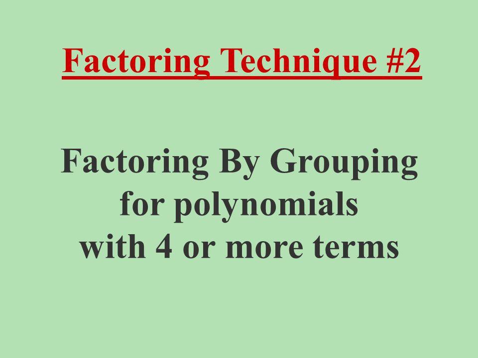 Example #4: x 2 -5x+6