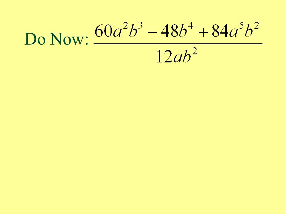 Synthetic Division - To use synthetic division: There must be a coefficient for every possible power of the variable.