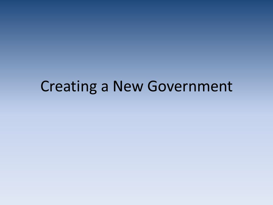 a create government