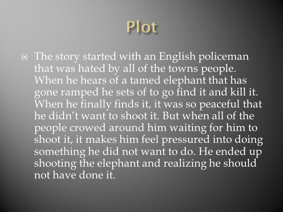  The story started with an English policeman that was hated by all of the towns people.