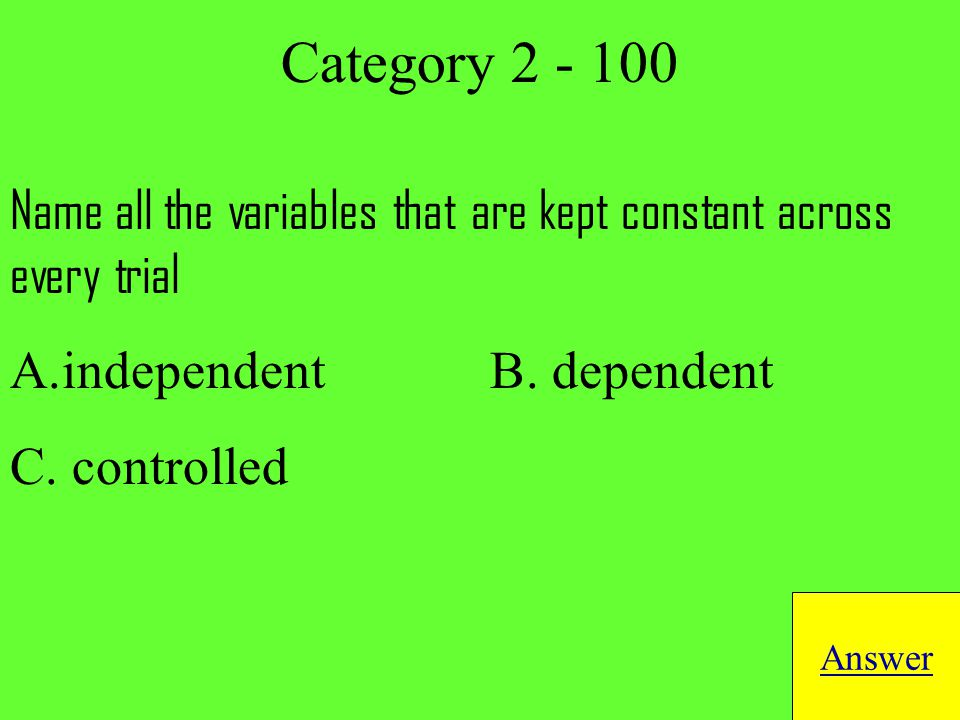 DNA and RNA are examples of which macromolecule Answer Category 6 - 200