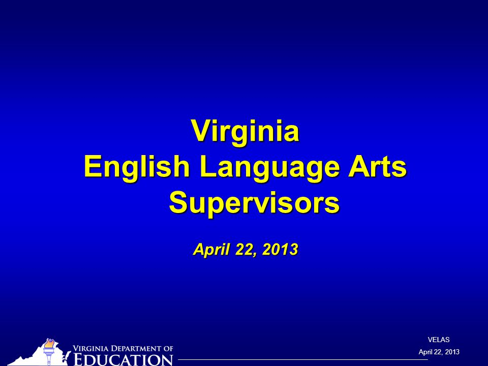 VELAS April 22, 2013 Teacher Direct Teacher Direct