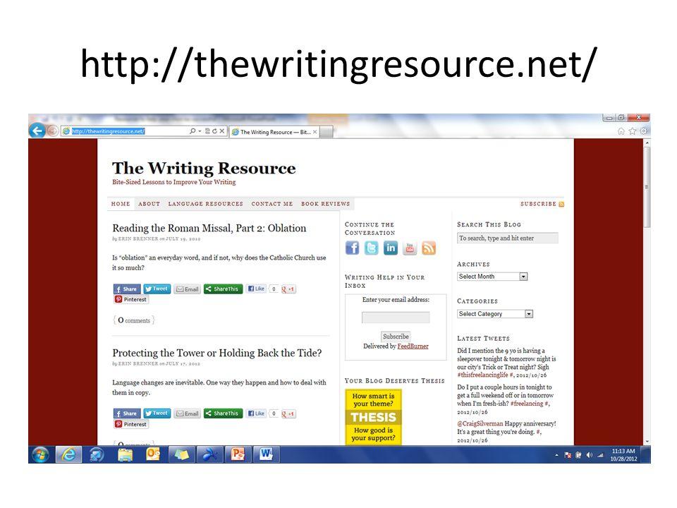 http://thewritingresource.net/