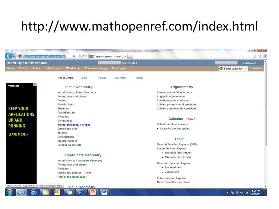 http://www.mathopenref.com/index.html