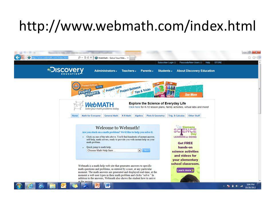 http://www.webmath.com/index.html