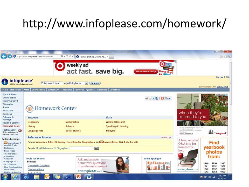 http://www.infoplease.com/homework/