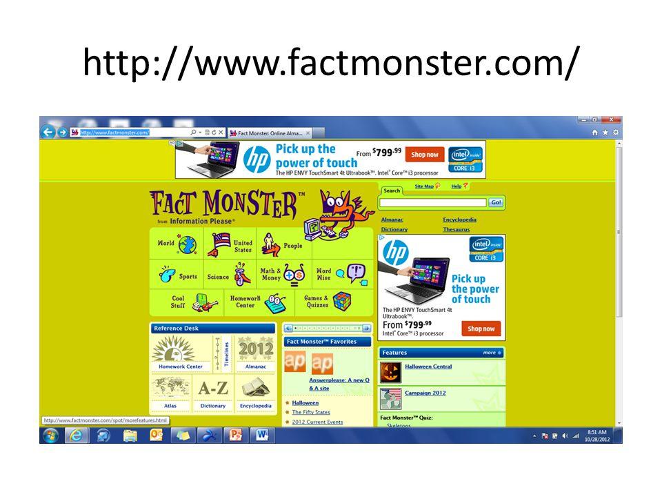 http://www.factmonster.com/