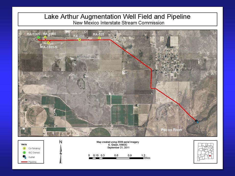 Lake Arthur Well Field 5 wells Original capacity 7,900 gpm Design capacity 10,000 gpm