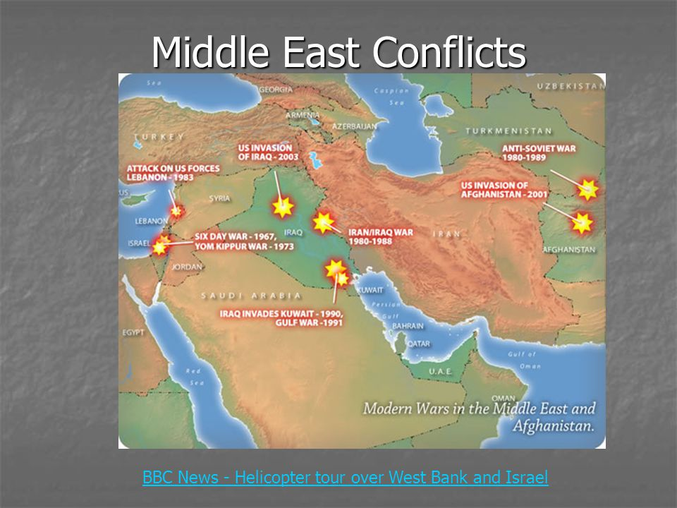 Middle East Conflicts BBC News - Helicopter tour over West Bank and Israel